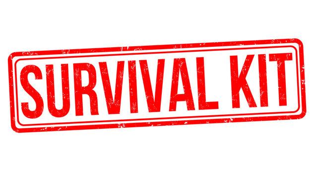 Survival kit grunge rubber stamp
