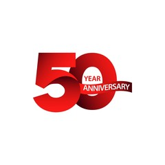 50 Year Anniversary Vector Template Design Illustration
