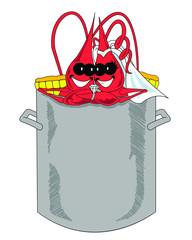 Bride & Groom Crawfish in Pot