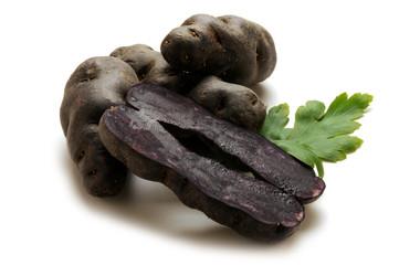 Vitellotte Plavi krumpir noire Truffe de Chine Tartufo Картофель Patata Négresse viola Lila burgonya noir  Вітелот сорт картоплі Vitelotten Potato