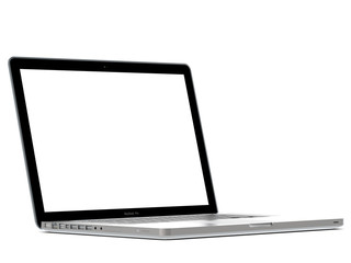 View of laptop with White Monitor