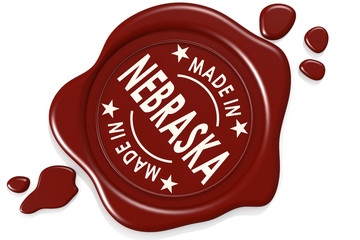 Label seal of made in Nebraska