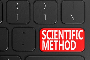 Scientific Method on black keyboard