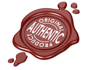 Authentic product red wax seal