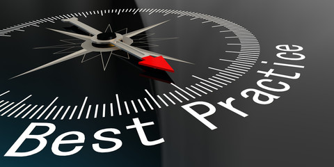 Compass with best practice word