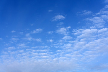 clouds Cirrus occupying the upper part of the frame and in the background a sky of deep blue color, poa, sp, brazil .