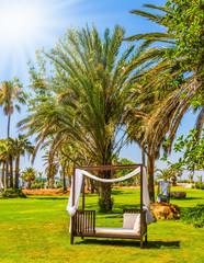 Seaside resort on a hot summer day