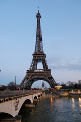 Eiffel Tower and the bridge