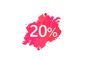 20 Percent Discount Water Color Design
