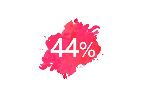 44 Percent Discount Water Color Design