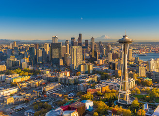 Wall Mural - Seattlescape - Aerial of Downtown Seattle