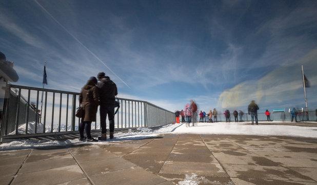 Besucher auf der Zugspitze