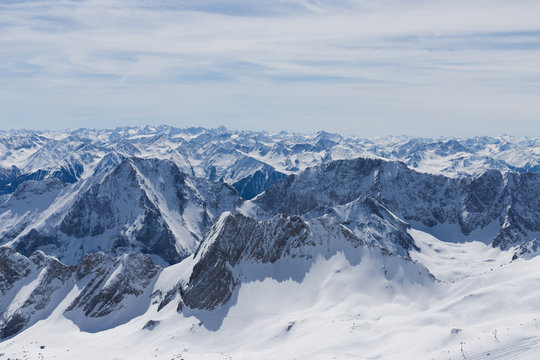 Bergpanorama von der Zugspitze aus gesehen