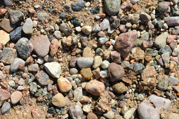 many different stones, texture, background