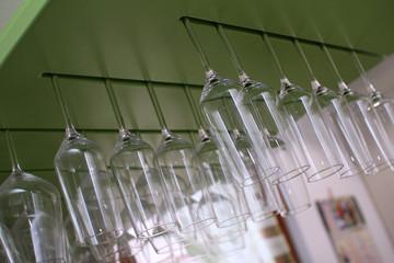glass at bar