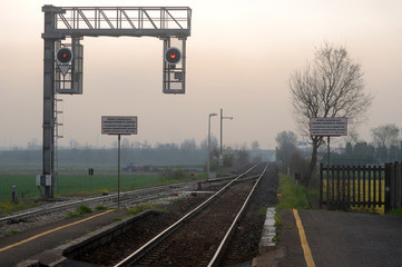 A small train station in the heart of the Lombardy countryside