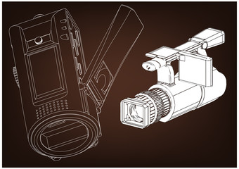 Camera on brown