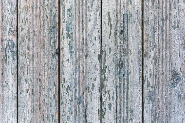 Background image of wooden planks with flaky paint