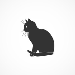 Vector image of cat icon.