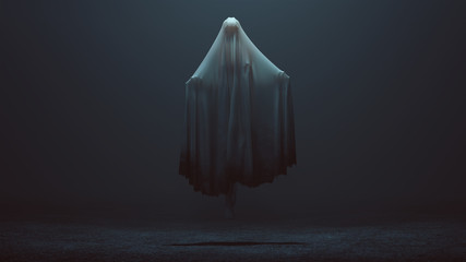 Floating Evil Spirit in a foggy void 3d Illustration