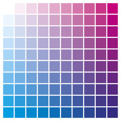 Color chart magenta cyan print production color guide ink catalog used in graphic arts, prepress and printing
