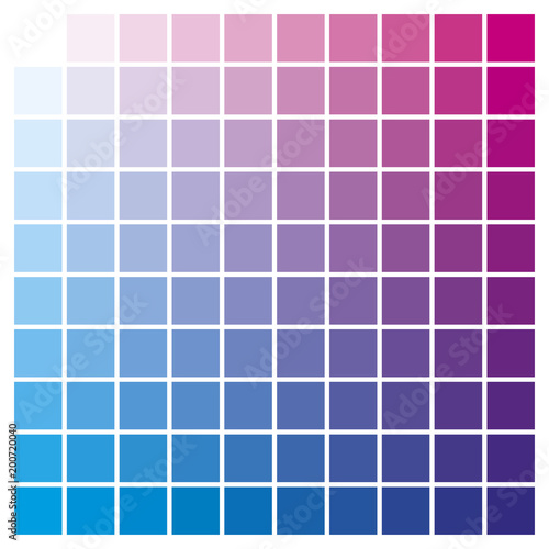 Color Chart Magenta Cyan Print Production Color Guide Ink Catalog