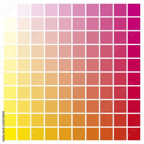 Color Chart Yellow Magenta Print Production Color Guide Ink Catalog