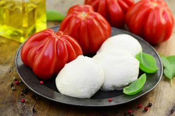Tomaten Öl Mozzarella