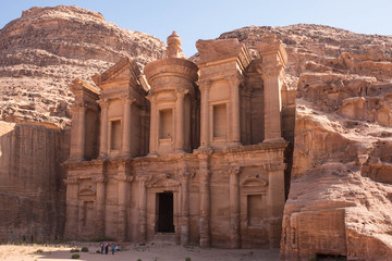 The Monastery building at the UNESCO World Heritage Site of Petra in Jordan.