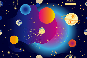 Abstract space background.