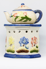 Flowers and ceramic
