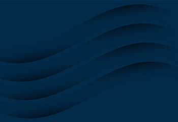 Navy blue abstract curve and wavy background  for card, annual business report, poster template