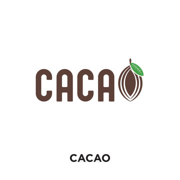logo cacao isolated on white background for your web, mobile and app design