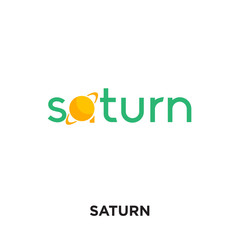 saturn logo isolated on white background for your web, mobile and app design
