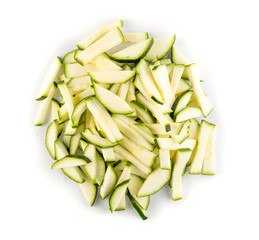 Chopped Zucchini Background