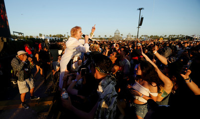 MO performs at the Coachella Valley Music and Arts Festival in Indio