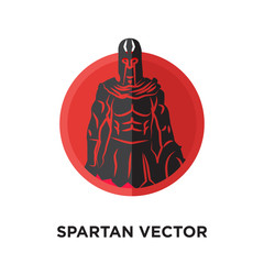 spartan vector logo isolated on white background for your web, mobile and app design