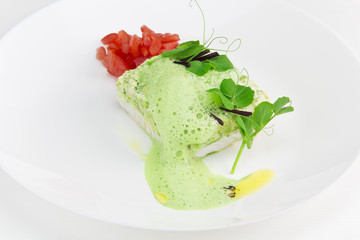 fish fillet with herbs sauce