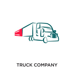 truck company logo isolated on white background for your web, mobile and app design