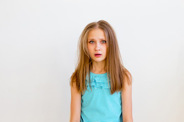 Girl showing emotions