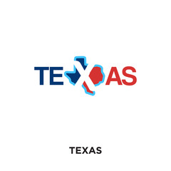 texas logo isolated on white background for your web, mobile and app design