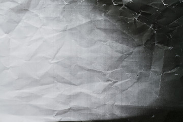 Photocopy crumpled texture background, close up