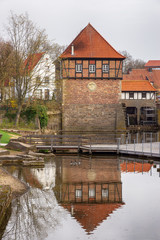 Wassermühle an der Stever in Lüdinghausen, Münsterland, Nordrhein-Westfalen