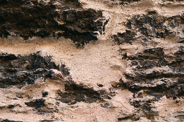 Natural old stone background - Mars surface