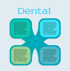 dentistry infographics pattern flyer design element02