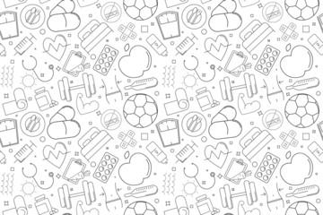 Vector health pattern. Health seamless background