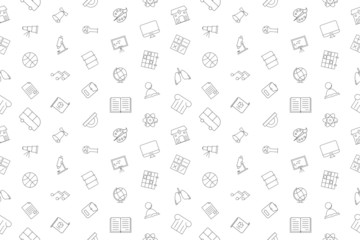 Vector school pattern. School seamless background