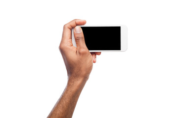 Man taking picture using smartphone