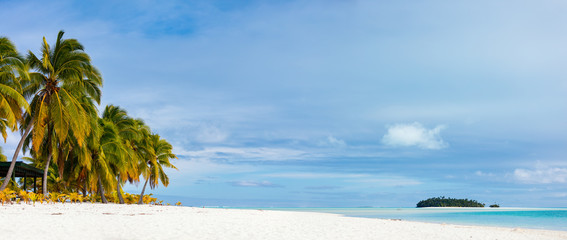 Wall Mural - Stunning tropical beach at exotic island in Pacific