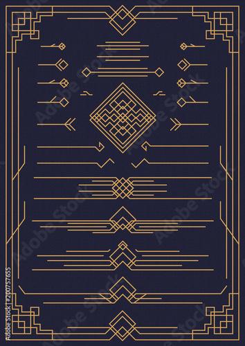 Art deco and arabic design elements gold color isolated on art deco and arabic design elements gold color isolated on background for pattern menu junglespirit Choice Image